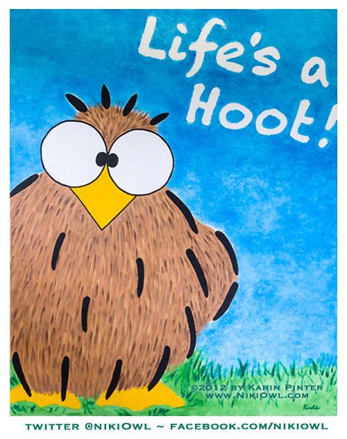 Life's a Hoot Niki Owl canvas