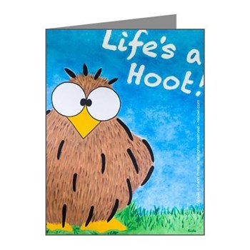 Life's a Hoot Note Card @nikiowl